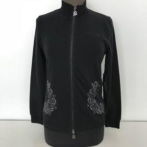 NWT BcBgMaxzria Black Full Zip Up Jacket Size M
